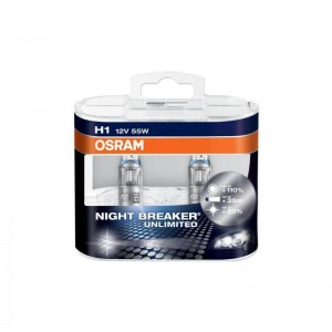 Automobilinė lemputė OSRAM NIGHT BREAKER UNLIMITED H1 55W 12V P14,5 S