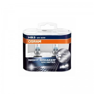 Automobilinė lemputė OSRAM NIGHT BREAKER UNLIMITED HB3 60W 12V P20D