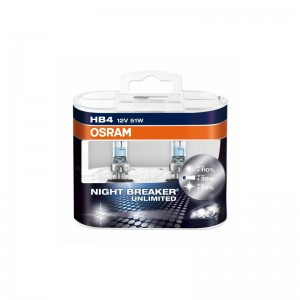 Automobilinė lemputė OSRAM NIGHT BREAKER UNLIMITED HB4 51W 12V P22D