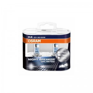 Lemputė OSRAM NIGHT BREAKER UNLIMITED H4 60-55W 12V P43T