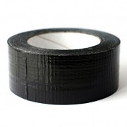 Vandeniui atspari tekstilinė lipni juosta juoda, atspari iki +60 C, Scapa